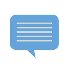 speech bubble message chat dialog media vector image