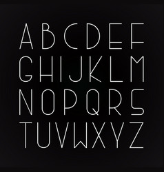 thin minimalistic font english alphabet vector image