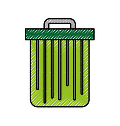 Trash can isolated vector