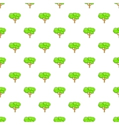 Tree pattern cartoon style vector image
