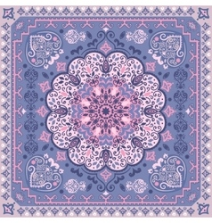 Turkish rug style seamless pattern vector