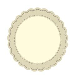 Vintage tag frame vector image