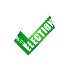 voting symbols design 2019 election check vector image