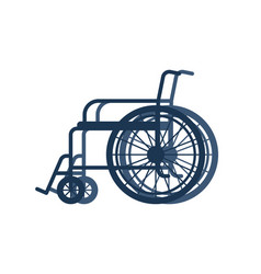 wheelchair for disabled isolated on white vector image