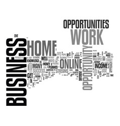 work at home business opportunity a step by step vector image