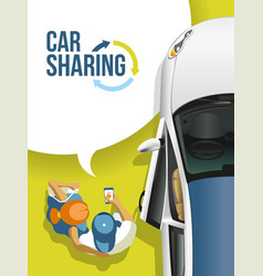 young people found free car service a vector image
