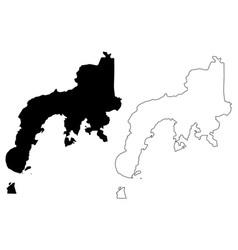 Zamboanga peninsula region map vector