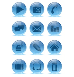 Abstract 3d icons set vector image