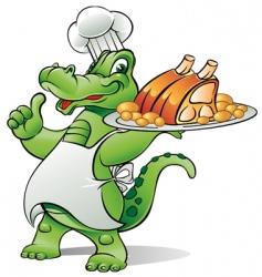 Alligator chef vector image