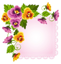background with pansy vector image vector image