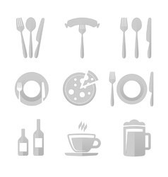 Icons for restaurant vector image