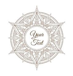 Oriental Indian Mandala Card vector image