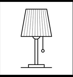 table lamp home furniture lineart design vector image vector image