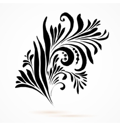 Black and white hohloma vector image vector image