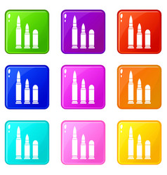 bullets icons 9 set vector image vector image