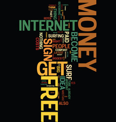 money for free text background word cloud concept vector image vector image