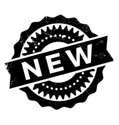new rubber stamp vector image