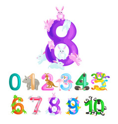 ordinal numbers for teaching children counting vector image