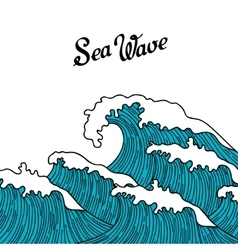 Sea background with abstract hand drawn waves vector image vector image