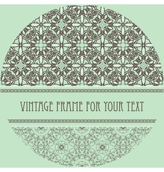 vintage pattern with frame for your text vector image vector image