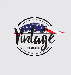 american made in usa retro vintage labels concept vector image