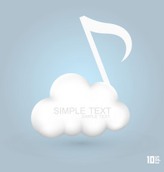 cloud melodies vector image vector image
