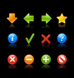 Gel Icon Navigation Black vector image