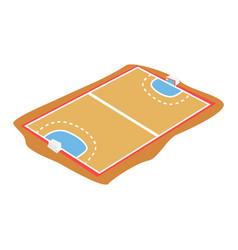 handball court playground cartoon vector image vector image
