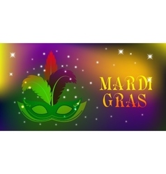 Mardi Gras mask colorful poster template flyer vector image vector image