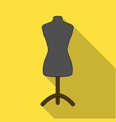plastic dummy on the standsewing or tailoring vector image