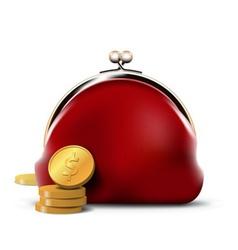 Predator purse with coins vector