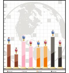 adjustable demographic graph vector image vector image