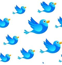Blue bird social media seamless background vector image