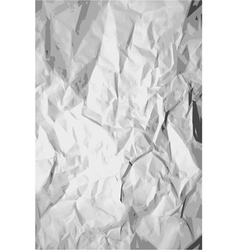 crumpled paper texture vector image
