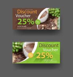Discount voucher template vector image