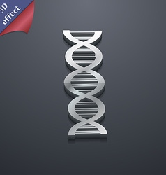 DNA icon symbol 3D style Trendy modern design with vector image vector image