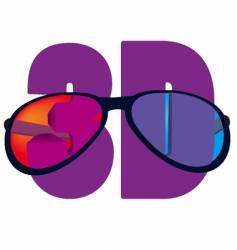 3d sunglasses vector