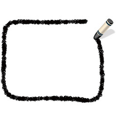 A black crayon message frame vector