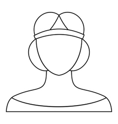 A woman in a tiara icon outline style vector