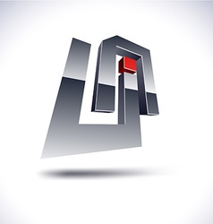 Abstract 3d UA icon vector