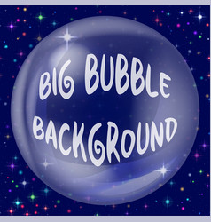background bubble on blue vector image