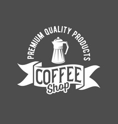 badges and labels elements for coffee vector image