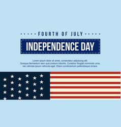 Banner for independence day style collection vector