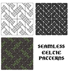 Beautiful pattern in celtic style set seamless vector