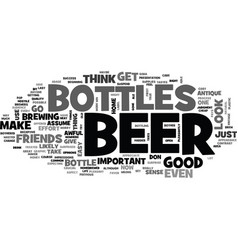 beer bottles text word cloud concept vector image