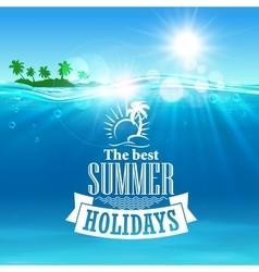 Best summer holidays poster for travel design vector