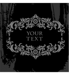 black and white ornate grunge vector image vector image