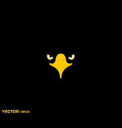 black eagle eye black background vector image