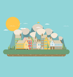 City landscape flat vector