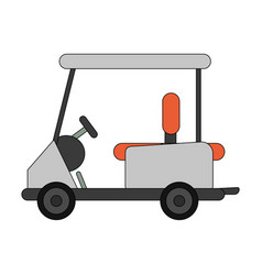 color image cartoon golf cart vehicle vector image